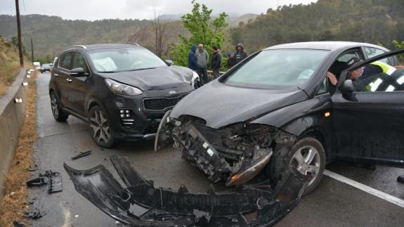 Accidente entre los dos vehículos