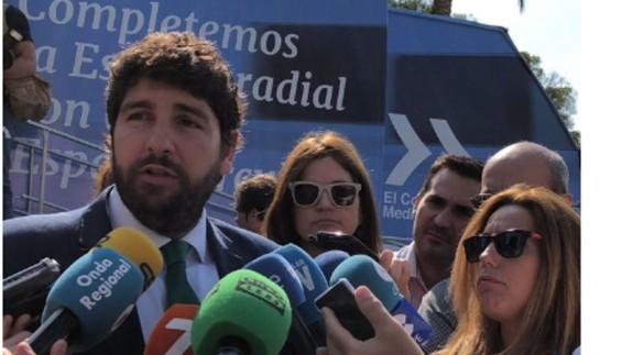 """Fernando López Miras en la campaña """"Quiero Corredor"""""""