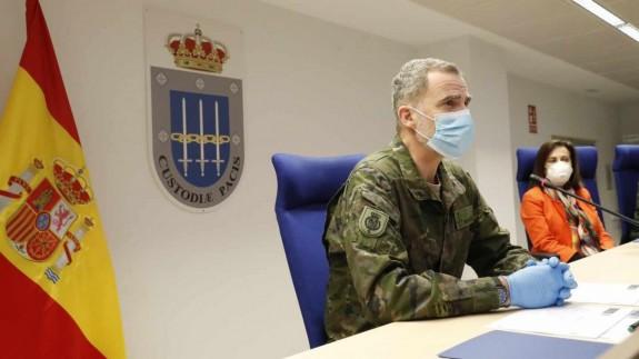 El Rey visita la base de Retamares. EP