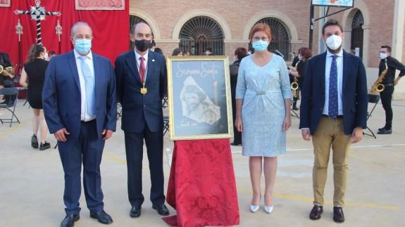 La alcaldesa de Jumilla, Juana Guardiola, en el acto de entrega de las serigrafías
