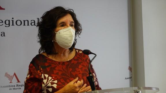 María José Catalán Frías, decana del Colegio de Psicólogos de la Región de Murcia. ASAMBLEA MURCIA