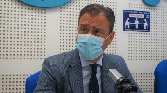 Marcos Ortuño, durante la entrevista este lunes en Plaza Pública