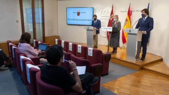 Rueda de prensa tras la reunión del Consejo de Gobierno. CARM