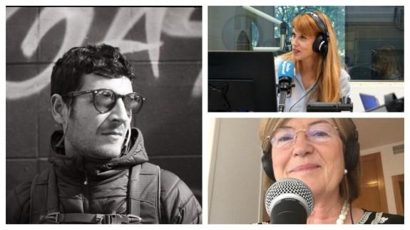 """Alfonso Duran en la sección """"Balcón al patio de luces"""" con Lucía Hernández y Carmen Campos"""