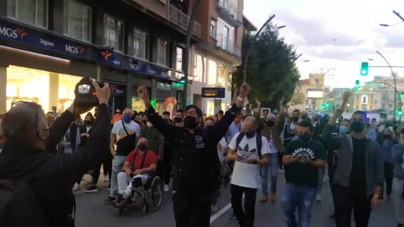 Los manifestantes cortaron la Gran Via.