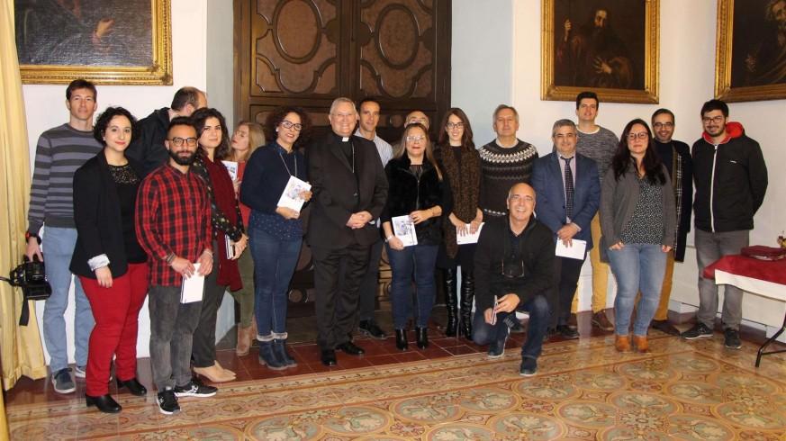 Lorca Planes junto a los periodistas