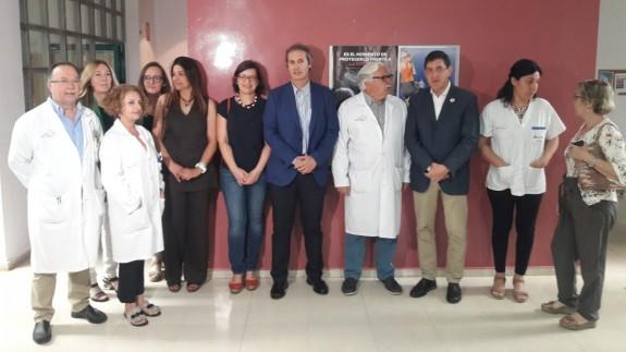 Villegas presenta la iniciativa de apoyo a la lactancia en el Centro de Salud de Puente Tocinos, ORM