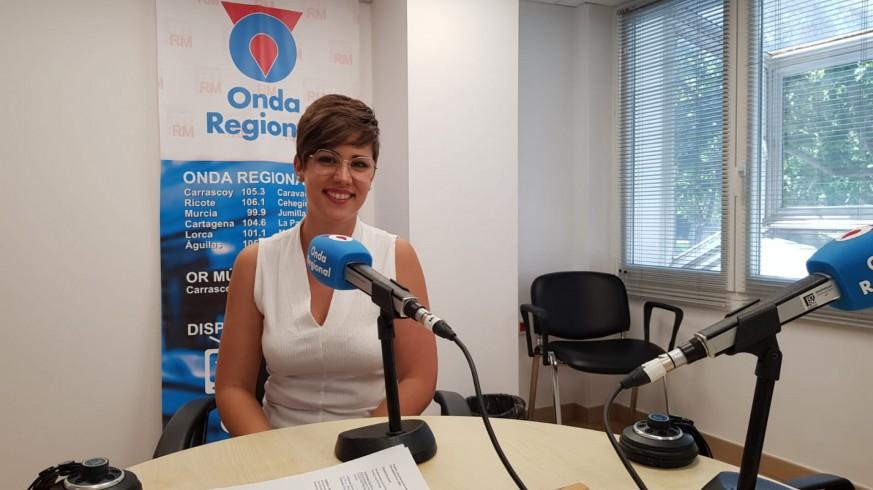 Cintia Segura en Onda Regional