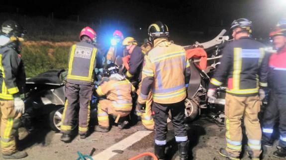 Imagen del accidente en la autovía A7