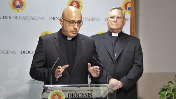 Rueda de prensa en la Diócesis de Cartagena