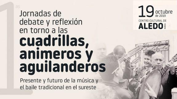Detalle del cartel de las I Jornadas de debate y reflexión en torno a las cuadrillas, animeros y aguilanderos