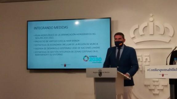 El consejero de Agricultura, Antonio Luengo. CARM