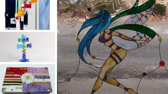 Algunos de los trabajos de Ópalo Taller vidriero. CEDIDAS