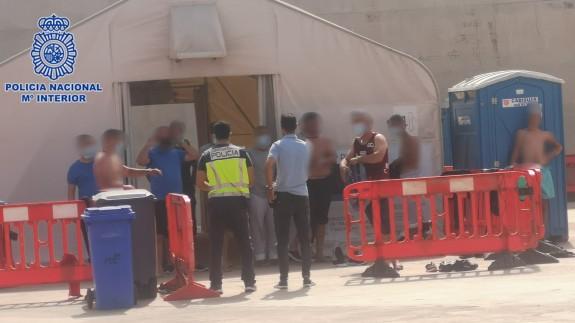 La detección se llevó a cabo en el Muelle de Escombreras. Foto: Policía Nacional