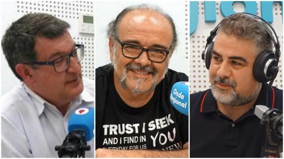 Pedro Quílez, Antonio Saura y Laureano Buendía