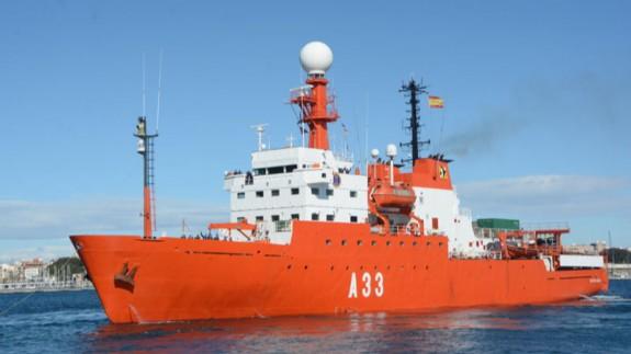 Buque de Investigación Oceanográfica Hespérides. FOTO: ARMADA