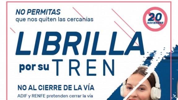 Cartel protesta de Librilla. Plataforma en Defensa del Ferrocarril de la R. Murcia