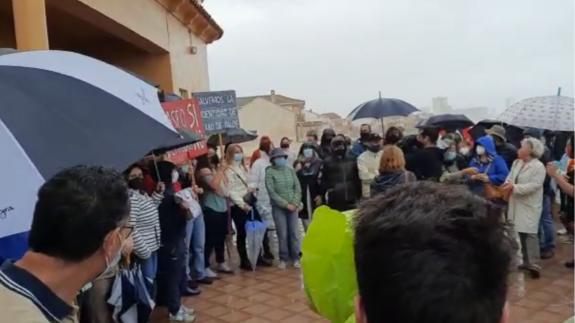 Un auto de la Audiencia Nacional frena provisionalmente el desalojo de dos viviendas en Cabo de Palos