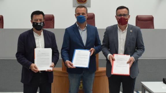 Presentación de las enmiendas por parte de Cs, PP y PSOE