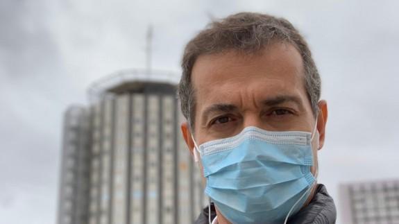 Raúl Sánchez en el hospital La Paz