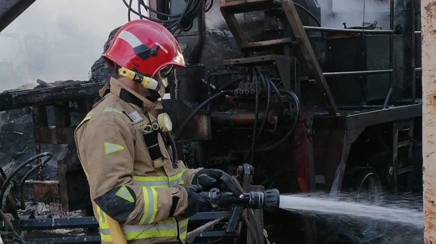 Intervención de los Bomberos en el incendio