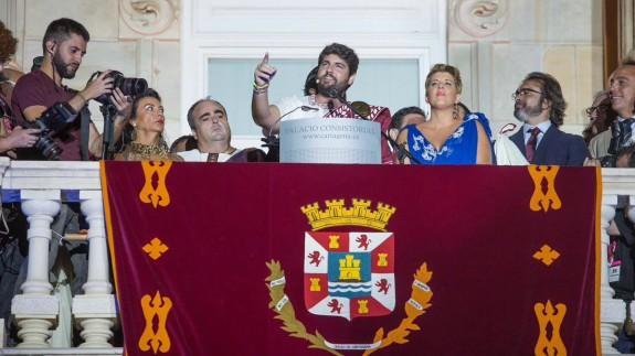 Un momento del pregón pronunciado por López Miras