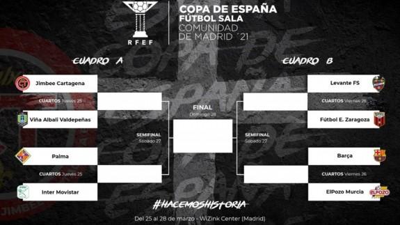 Jimbee y ElPozo no se verán las caras hasta la final en la Copa de España de Fútbol Sala