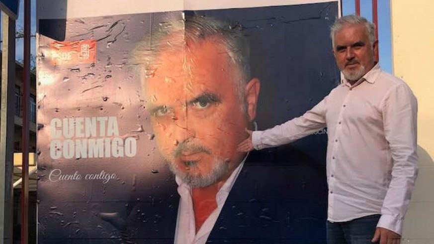 José Zapata, durante la última campaña electoral autonómica. Foto: Facebook