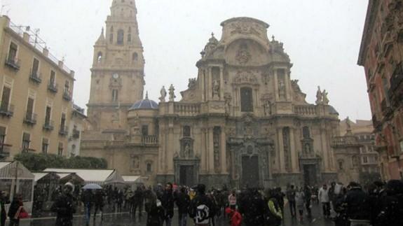 Catedral de Murcia en invierno