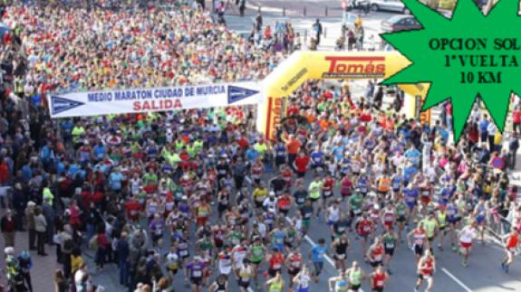 Imagen de una edición anterior de la Media Maratón de Murcia
