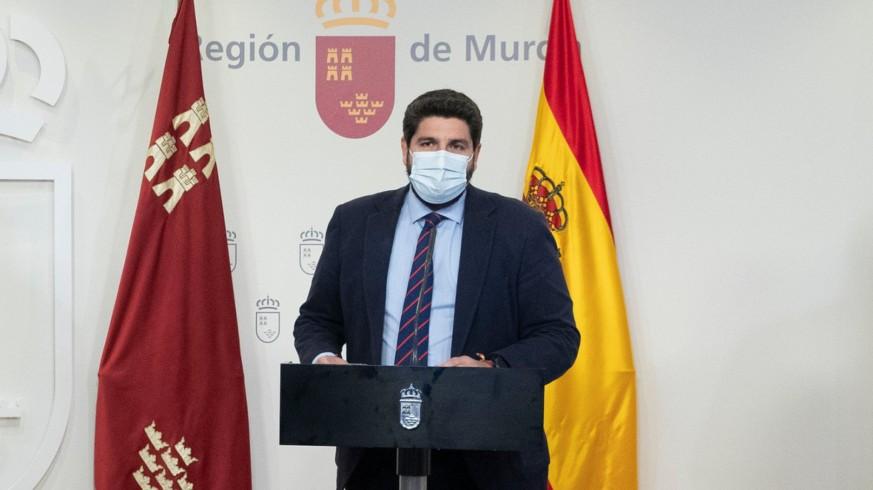 López Miras en rueda de prensa la pasada semana