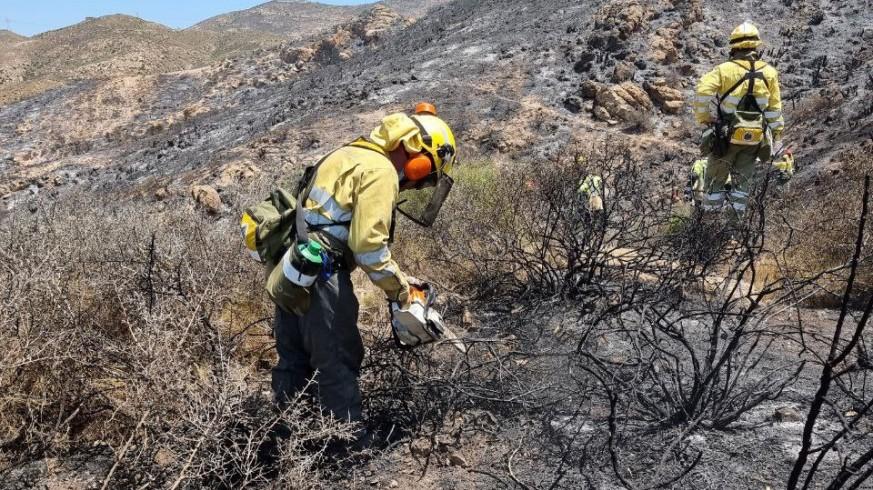 Incendio del Barranco del Feo. FOTO: 112 REGIÓN DE MURCIA