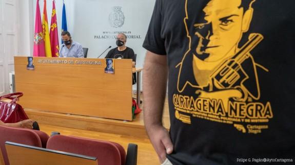Presentación de 'Cartagena Negra' el pasado viernes en el Ayuntamiento de Cartagena