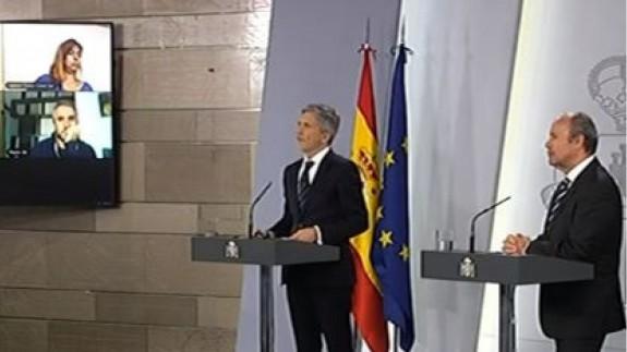 DIRECTO  Rueda de prensa de los ministros Fernando Grande-Marlaska y Juan Carlos Campo