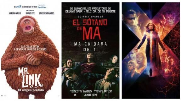 Carteles de las películas recomendadas este fin de semana
