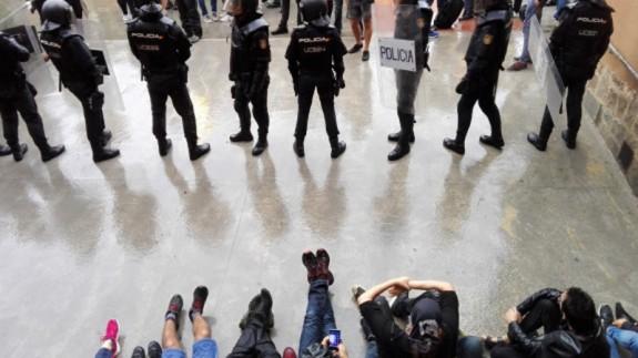 Actuación policial durante el 1 de Octubre