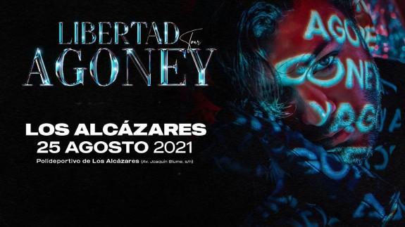Cartel del concierto de Agoney en Los Alcázares