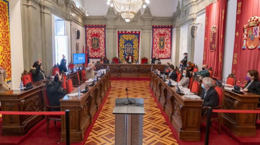 Pleno de aprobación de los presupuestos municipales. FOTO: AYTO CARTAGENA