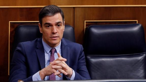 Pedro Sánchez en la sesión de Control al Gobierno el Congreso