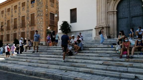 Algunos de los romeros que se han acercado hasta el Santuario