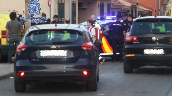 Intervención policial en Espinardo