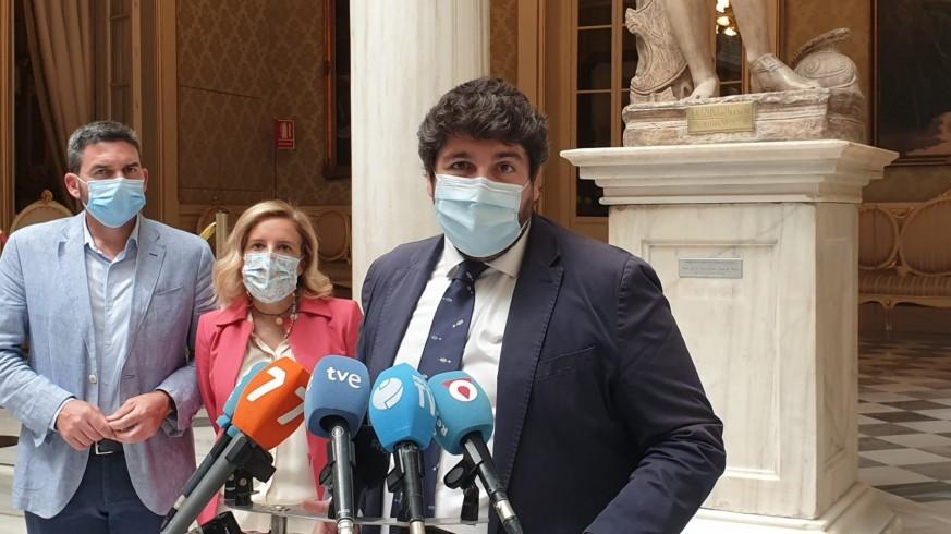 López Miras durante un acto este miércoles en Murcia