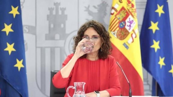 Mª Jesús Montero en una comparecencia del Consejo de Ministros