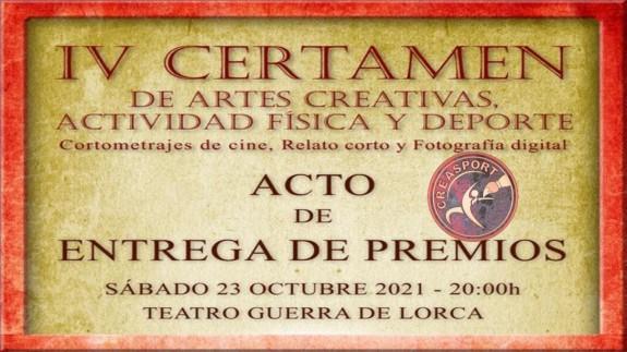 TARDE ABIERTA. Mañana se entregan en Lorca los premios del IV Certamen Internacional CreaSport