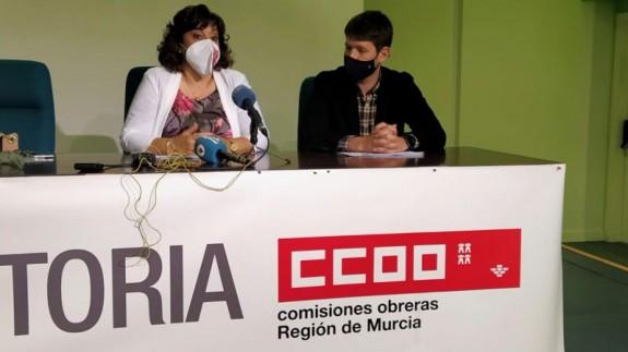 Rueda de prensa de CCOO. FOTO: ORM