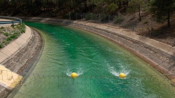 Imagen del trasvase Tajo-Segura con agua