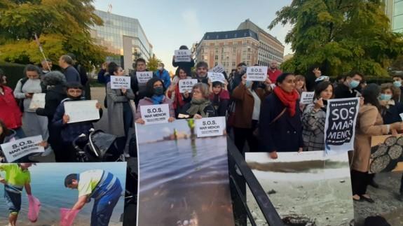 Concentración en la plaza Schuman de Bruselas.