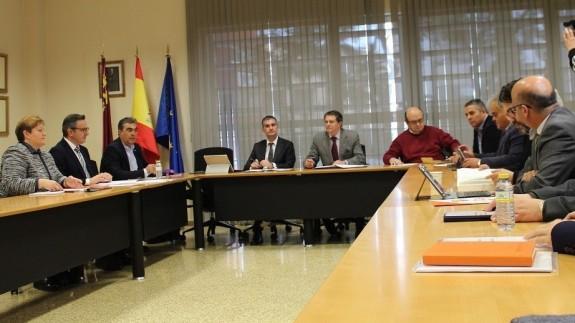 Reunión en la consejería de Agricultura sobre el Pacto del Agua