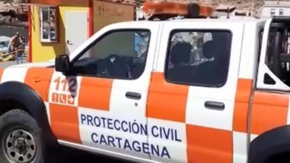 El vehículo de Protección Civil. AYTO CARTAGENA
