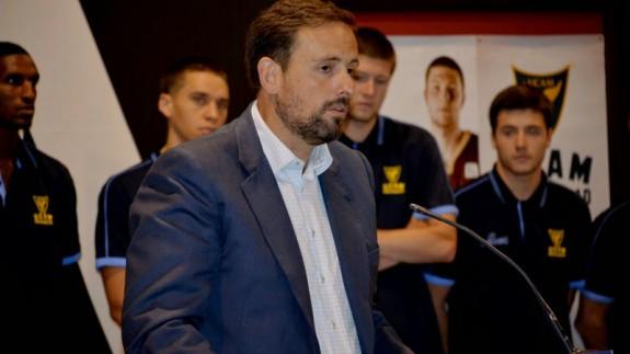 Alejandro Gómez en una rueda de prensa
